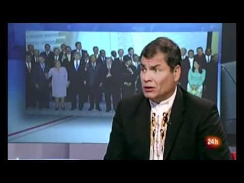 Rafael Correa rompió en TV Española muro de censura sobre esencia antidemocrática de medios