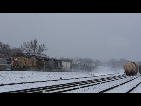 A Snowy Day on the River Line - January 7th 2017