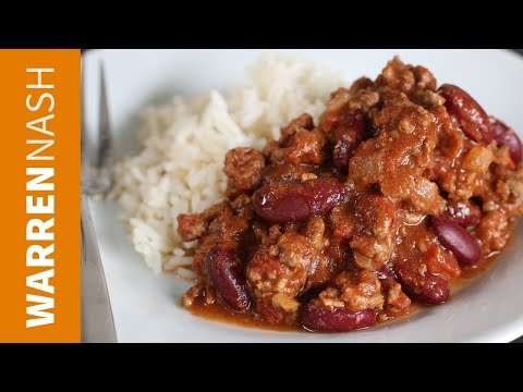Chilli Con Carne Recipe - Easy Mexican favourite - Recipes by Warren Nash