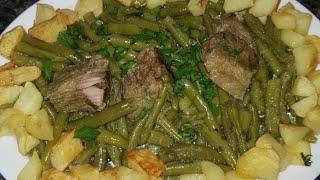 لوبيا ماشطو صوتي بزاف بنينة فدقائق فقط واللحم طاب زبدة😇  من مطبخ أحلام