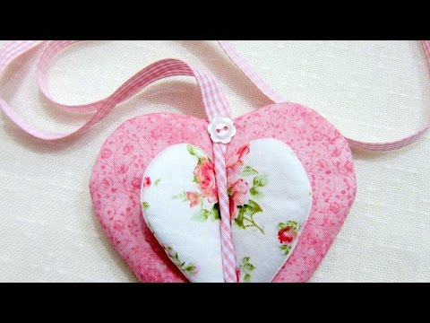 Make a Pretty Fabric Heart Ornament - DIY Home - Guidecentral