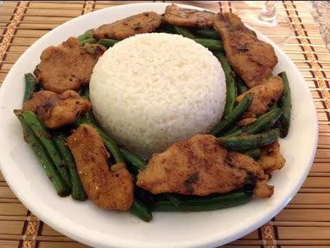 How To Cook Stir Fried Chicken Green Beans-Asian Food Recipes