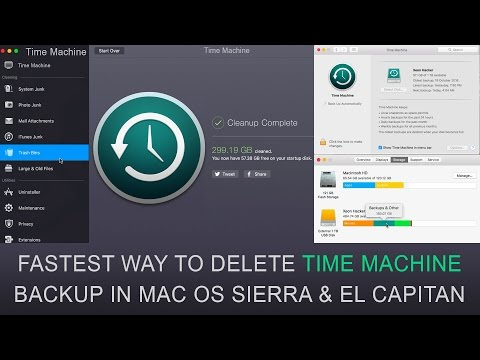 Fastest Way To Delete Time Machine Backup in Mac Os Sierra | Best Way To Clean You Mac