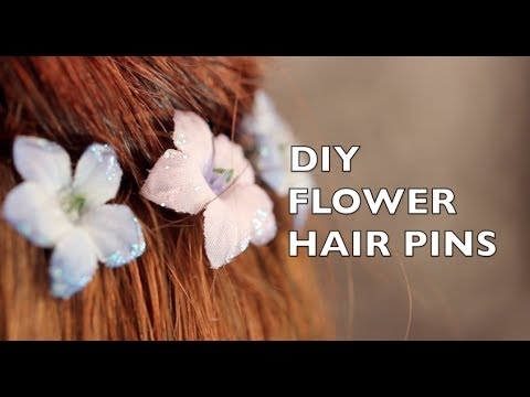 How To Make Flower Hair Pins