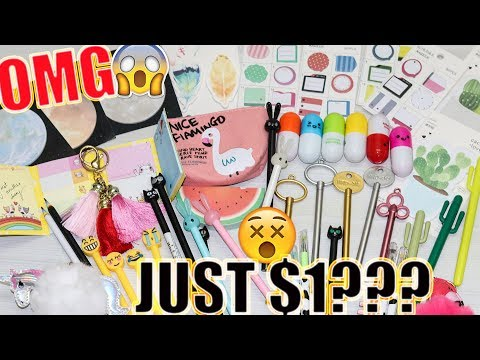 $1 WISH APP STATIONERY HAUL - Online Shopping In India | #HeliHauls