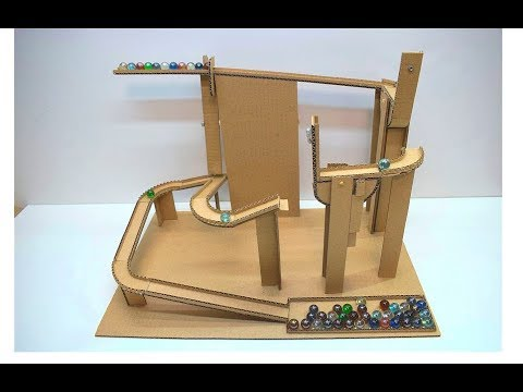 How to make Marble Run from Cardboard Board Game Marble Labyrinth from Cardboard