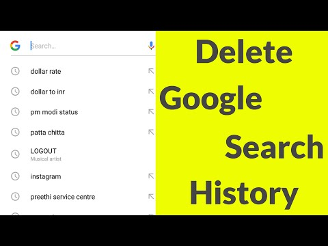 How To Delete Google Search History On Android Mobile & Remove All Search Bar Suggestions-2019