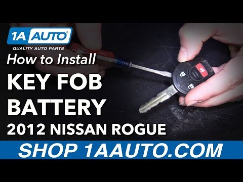 How to Replace Key FOB Battery 07-13 Nissan Rogue
