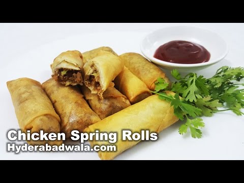 Chicken Spring Rolls Recipe Video – How to Make Chicken Spring Rolls at Home – Easy & Simple