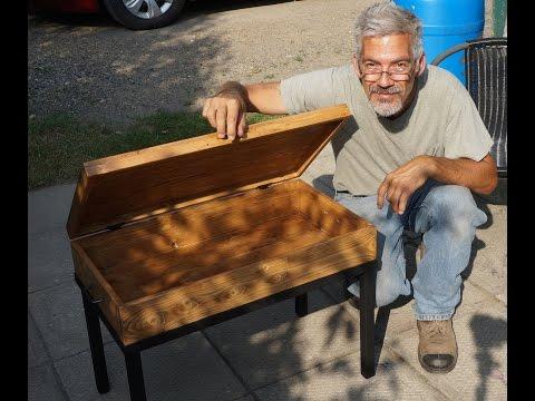 Handmade Coffee Table chest DIY