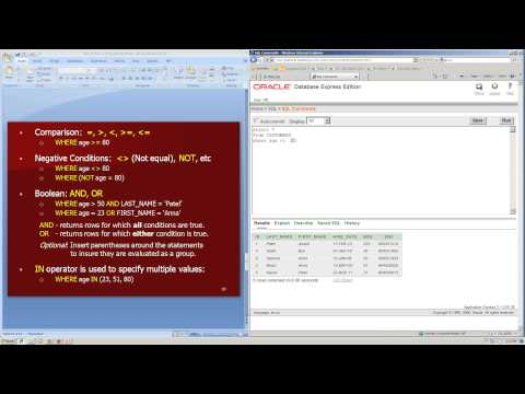 SQL SELECT statement database basics tutorial: learning, writing, using, examples