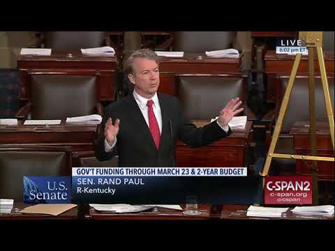 Sen. Rand Paul Blasts Hypocrisy and Out-of-Control Spending - Feb. 8, 2018