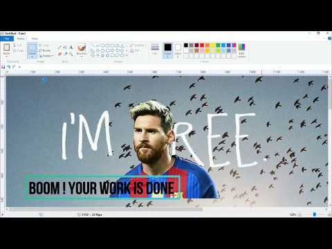 how to change image background using ms paint 2017