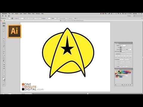 Make a Star Trek Starfleet Insignia in Illustrator CS6