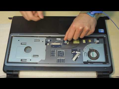 Gateway NV570P09u touch screen laptop disassembly remove motherboard/hard drive/screen bezel etc....