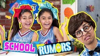 School Rumors What Ev's - Types of Kids at School - Funny Skits // GEM Sisters