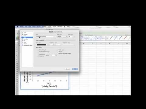 Using excel to create a line graph (1 subject's of data)
