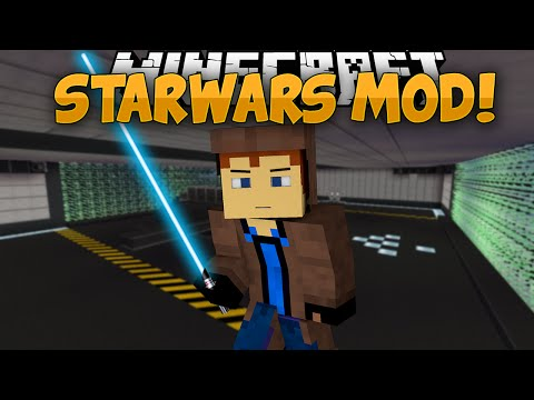 Minecraft Mods | STAR WARS MOD!! | Lightsabers, The Force, & MORE! | Mod Showcase