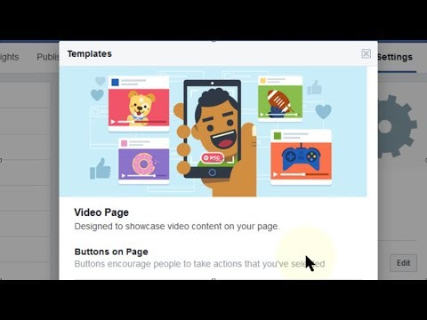 How to Change Facebook Page Template