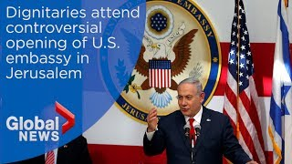 U.S. embassy officially opens in Jerusalem amid deadly Gaza protests