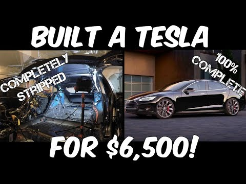 This Guy Built a Tesla Model S from Parts! Here's how he did it...