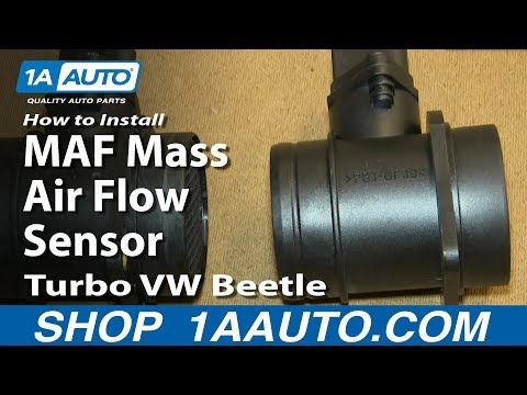 How To Install Replace MAF Mass Air Flow Sensor 2001-05 1.8L Turbo VW Beetle