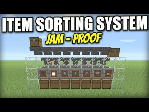 Minecraft PS4 - AUTOMATIC ITEM SORTER [ JAM-PROOF ] Tutorial - PE / Xbox / PS3 / Wii U