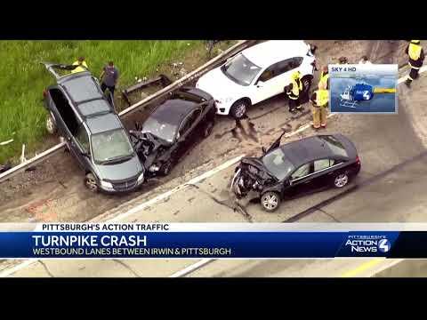Multi-vehicle crash on Pennsylvania Turnpike between Irwin, Pittsburgh