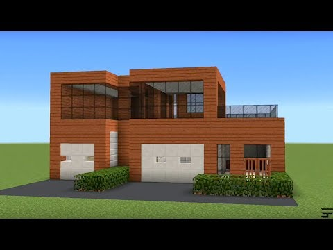 Minecraft - How to build a acacia modern house