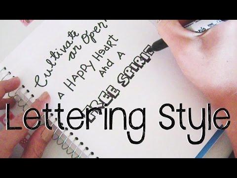 Simple LetteringTechniques + Printables | Doodle with Me