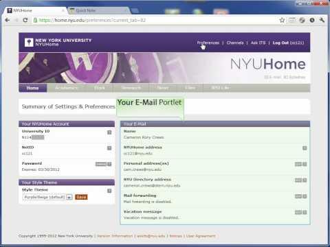 NYU Email Forwarding