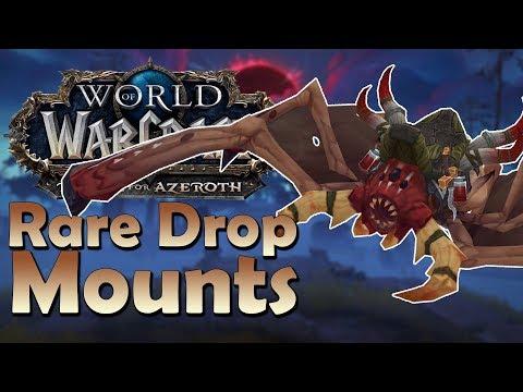 The 4 Rare Drop Mounts of Kul'tiras & Zandalar! & Where to Find Them | Battle for Azeroth
