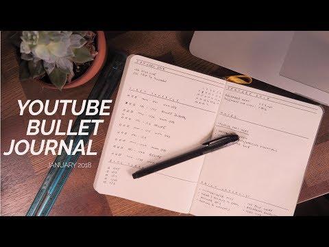 YouTuber Bullet Journal 2018