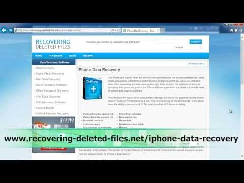 Recover Deleted Photos iPhone EASILY