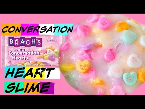 Conversation Heart Slime (Make it Monday) Valentines Day Slime DIY