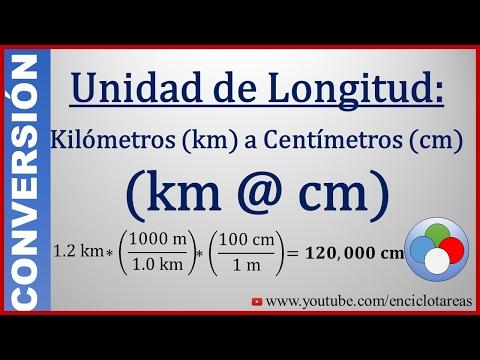 Convertir de Kilómetros (km) a Centimetros (cm) - (km a m) - Parte 3