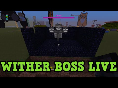 Minecraft Xbox TU19 WITHER BOSS FIGHT - First Attempt LIVE