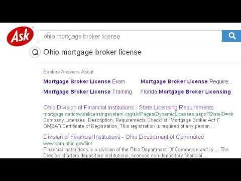 Ohio Mortgage Broker License Requirements