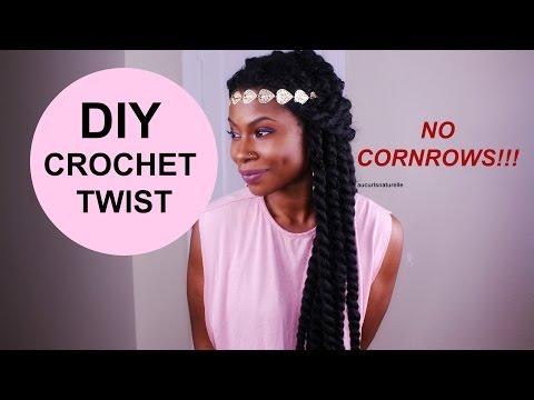 DIY CROCHET JUMBO TWIST IN 35MIN - NO CORNROWS!