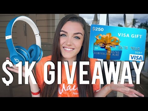 $1,000 GIVEAWAY & HOW TO ENTER (thank you for 250k!!!)
