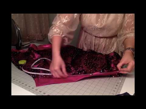 DIY Sequence Tull : How to make A lined Circle Skirt Zip { Method }