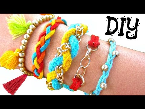 DIY Boho Summer Bracelets | How to Make Friendship Bracelets
