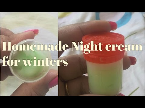 Homemade Night Cream for Oily Skin, Dry Skin    Anti Aging Wrinkle Free DIY Night Cream