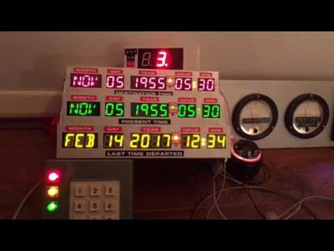 Back to the future time machine prop replica parts lights and electrics tfc box, digital speedo, ti