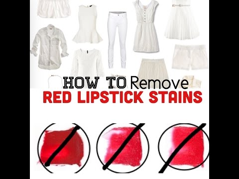 Remove Lipstick Stains With HAIRSPRAY!