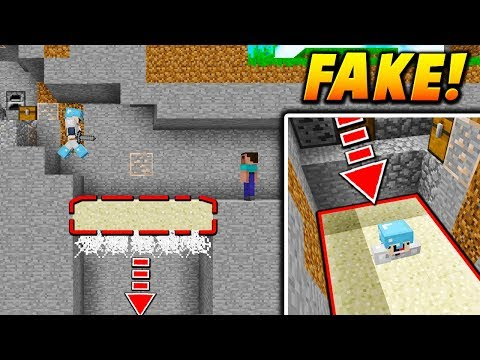 FAKE SAND GLITCH TRAP! - Minecraft SKYWARS TROLLING (QUICK SAND!)