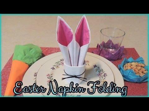 Easter Napkin Folding