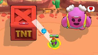 GIANT TNT + GIANT SPIKE! DON'T HIT IT! Brawl Stars Funny Moments & Fails ep.296