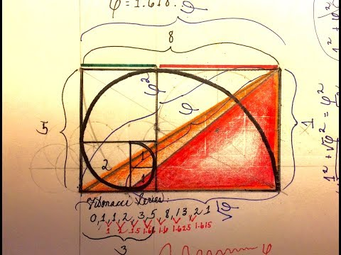 Golden Geometry: How to Draw the Fibonacci Spiral, and Golden Number Phi (Sacred Geometry)