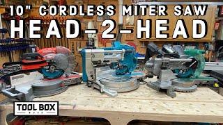 Best 10-inch Cordless Sliding Miter Saw - Head-2-Head Test